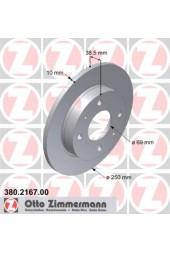 Δισκόπλακες πίσω ZIMMERMANN (454)